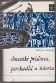 slovenske prislovia porekadla a uslovia
