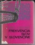 frekvencia slov v slovencine