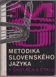 metodika slovenskeho jazyka v skolach druheho cyklu